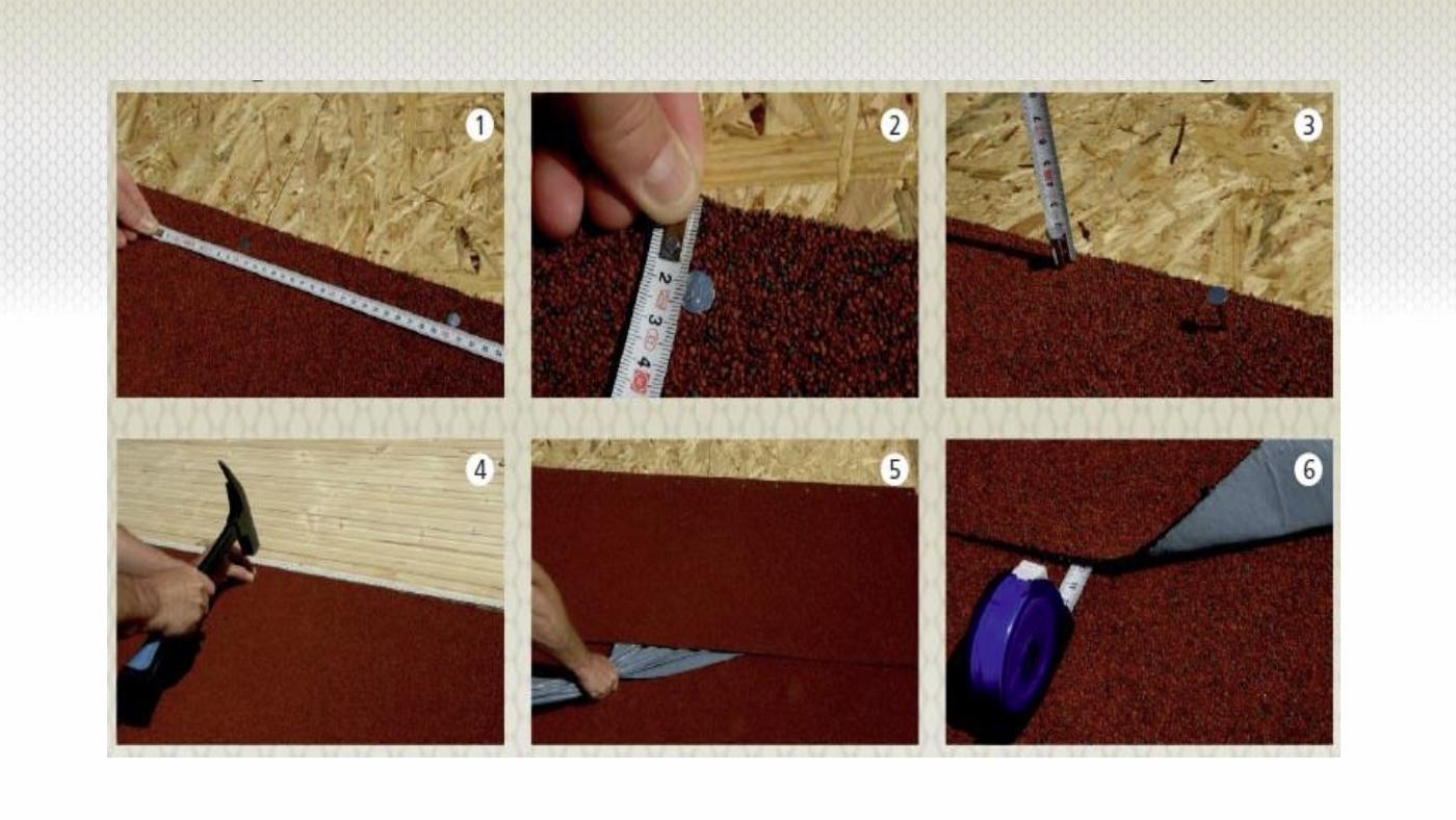 Instrukce k pokládce střešní krytiny pro zahradní altán