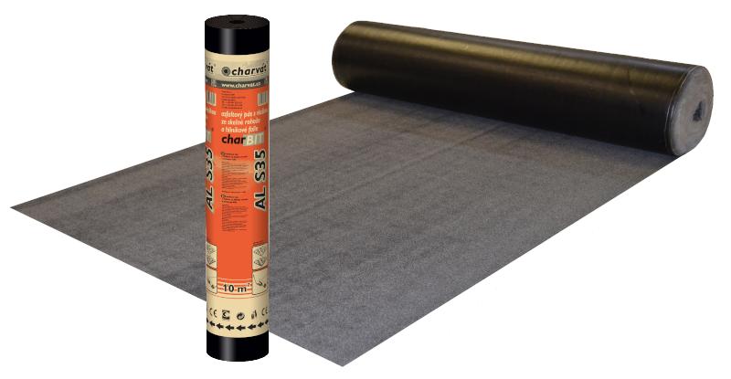 charBIT® AL S35 – Oxidovaný asfaltový pás s hliníkovou vložkou