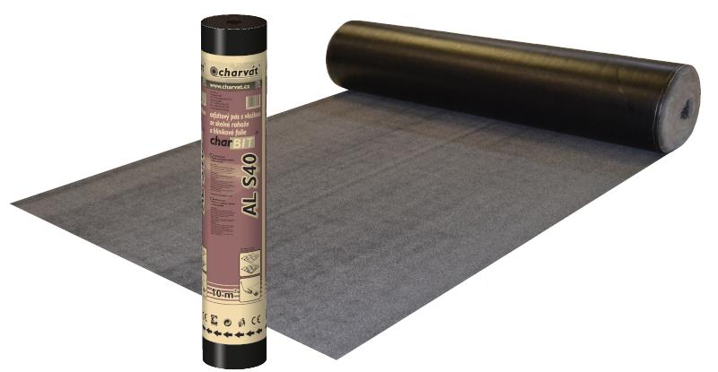 charBIT® AL S40 – Oxidovaný asfaltový pás s hliníkovou vložkou