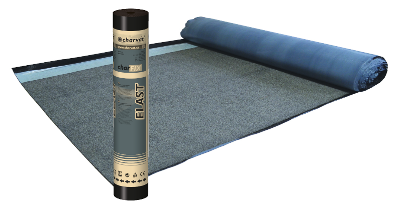 charFIX® ELAST AL 25 – Samolepící modifikovaný SBS asfaltový pás s hliníkovou vložkou